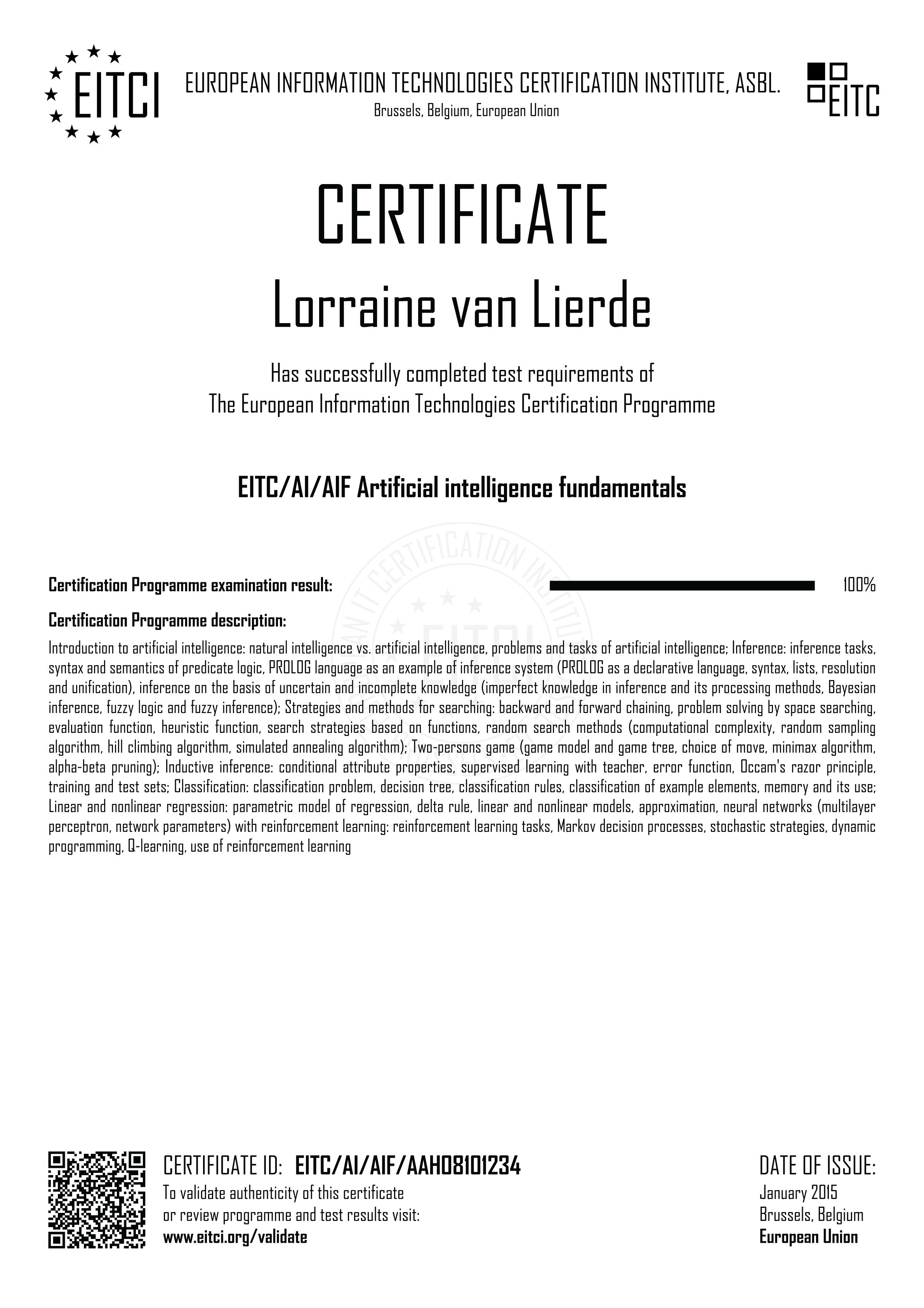 Eitcaiaif Artificial Intelligence Fundamentals Eitca Academy