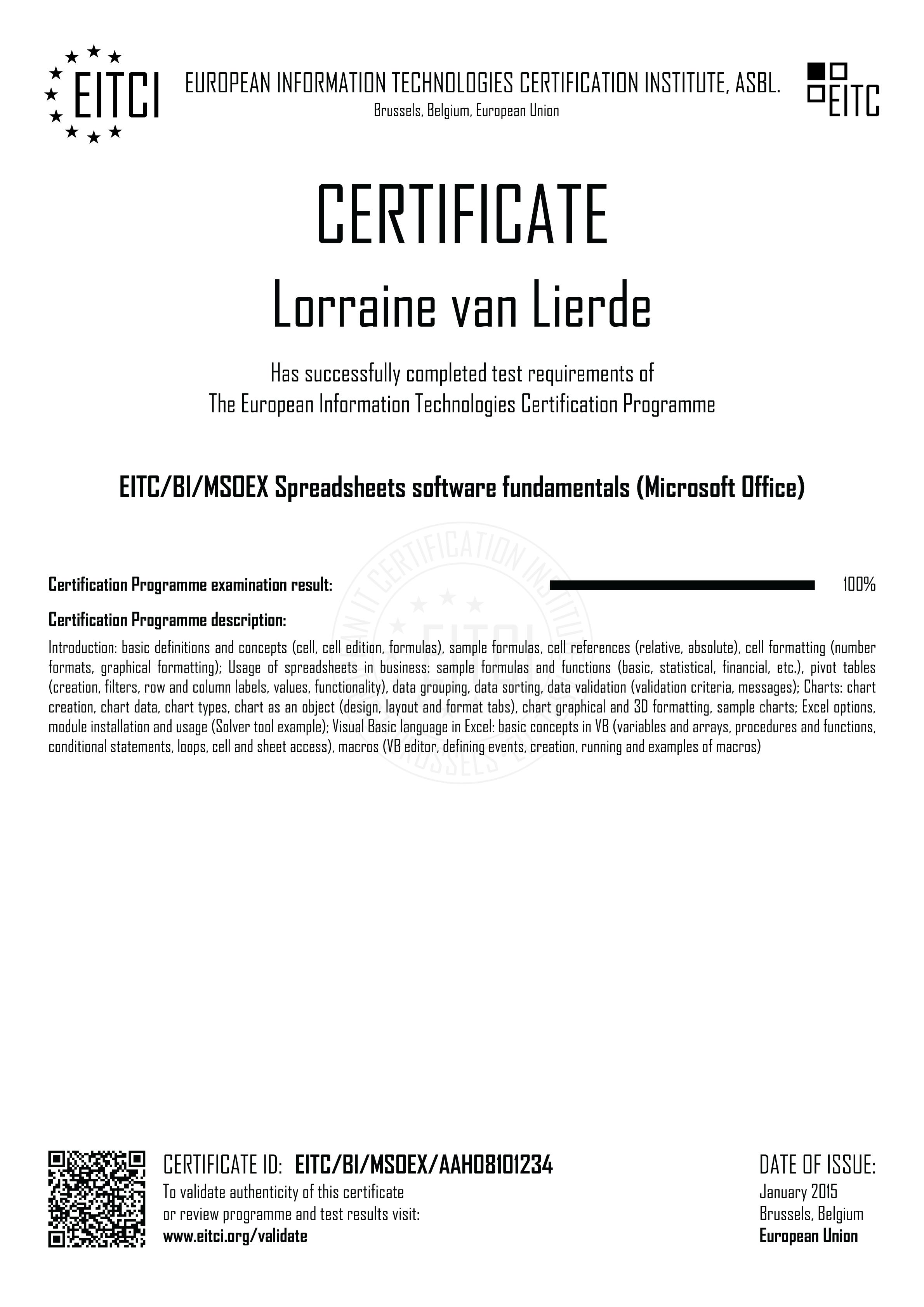 Eitcbimsoex spreadsheets software fundamentals microsoft office eitcbimsoex spreadsheets 1betcityfo Gallery