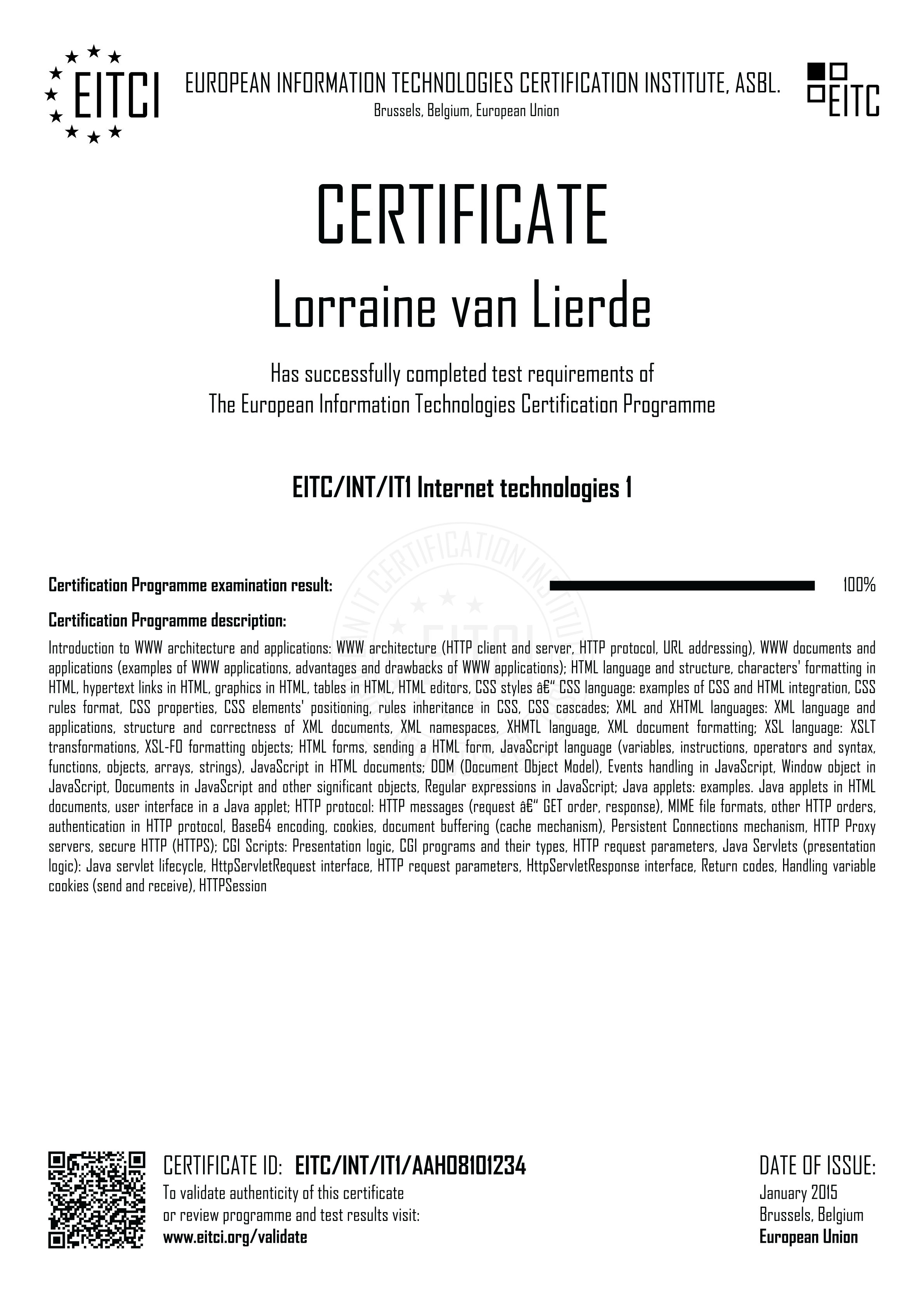 Eitcintit1 internet technologies 1 eitca academy eitcintit1 xflitez Images