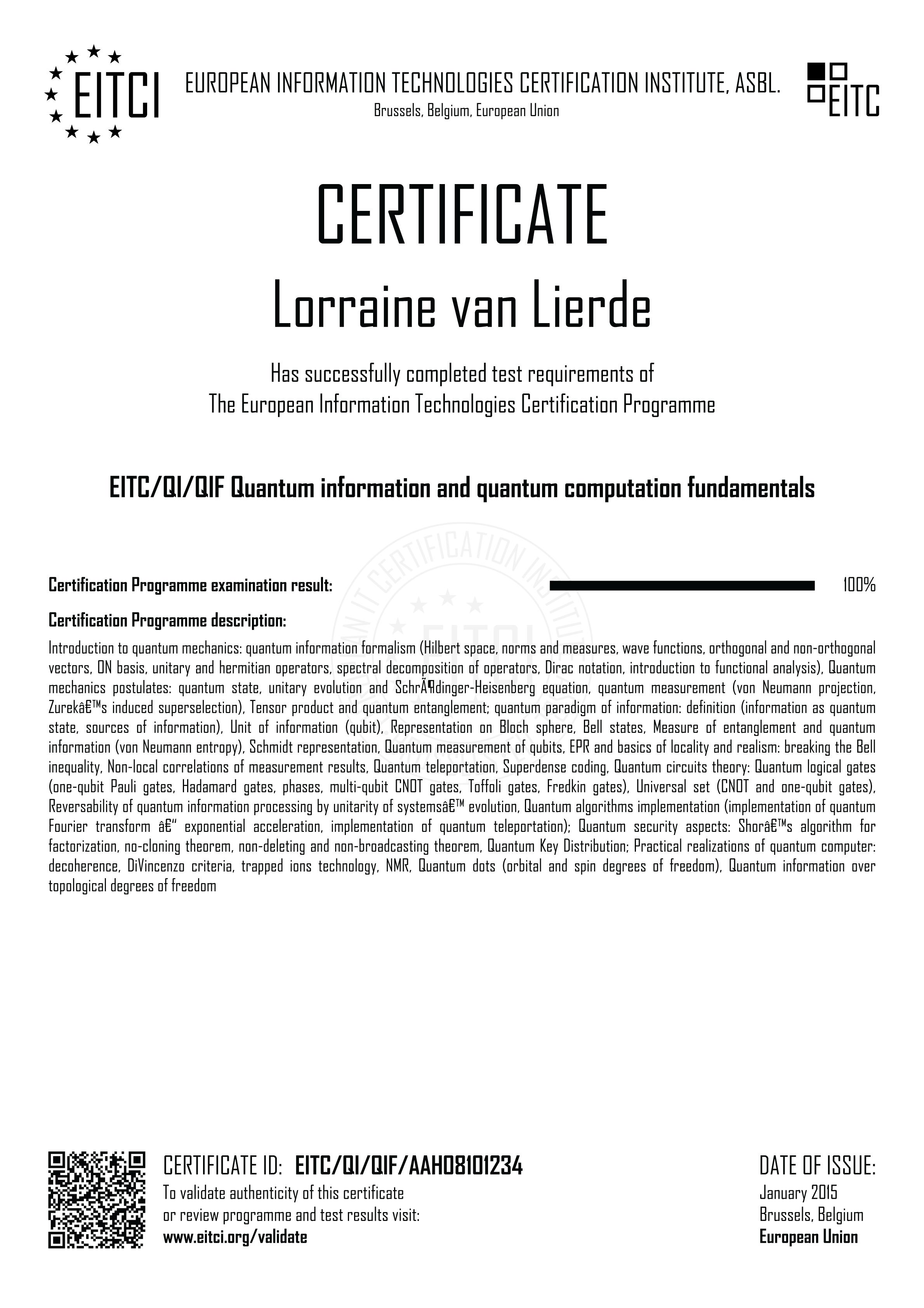 EITC/QI/QIF Quantum information and quantum computation fundamentals